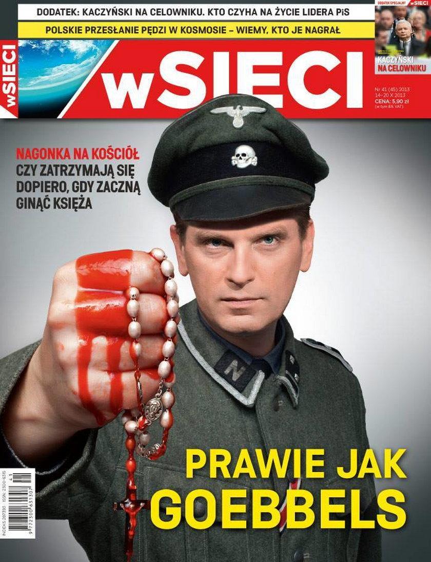 Okładka tygodnika wSieci