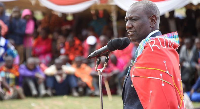 DP Ruto at the thanksgiving ceremony for nominated MP David Ole Sankok