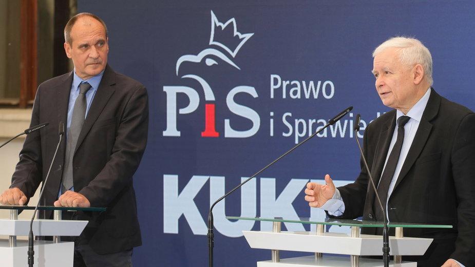 Paweł Kukiz i Jarosław Kaczyński