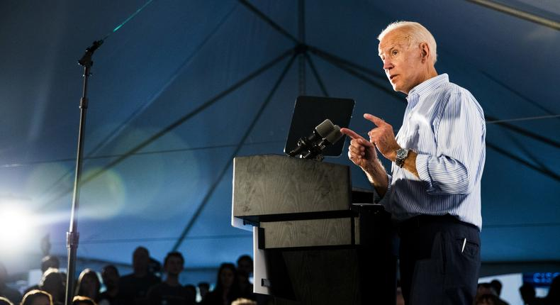 Joe Biden decides he doesn't need to stay above the fray after all