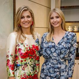 Królowa Maxima czy Ivanka Trump? Która z pań miała lepszą kreację na spotkaniu na szczycie?