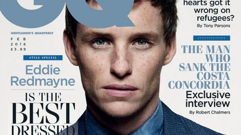 Eddie on the cover of British GQ