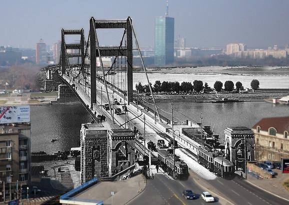 Most kralja Aleksandra Karađorđevića - Beograđanima je ovaj most služio manje od sedam godina; za vreme bombardovanja prilično je oštećen, ostaci su 1941. minirani, a na njegovim temeljima 1955. je podignut Most bratstva i jedinstva (Brankov most) s tim da su od starog ostali i sačuvali svoju funkciju do danas stubovi broj 2, 4, i 5. Nikolaj Krasnov je bio autor bogate arhitektonske obrade supstrukture mosta i skulpturne dekoracije, kao dopune (kliknuti + za uvećanje)