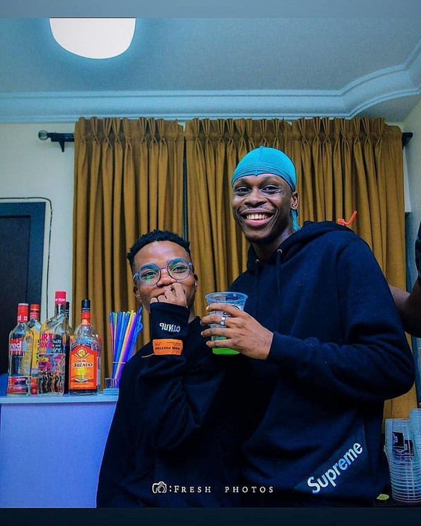 Lyta and Fireboy DML during the singer's days with YBNL. [Instagram/official Lyta]