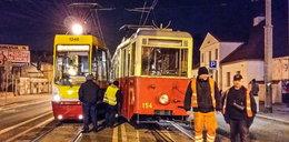 Zderzenie tramwajów w Łodzi