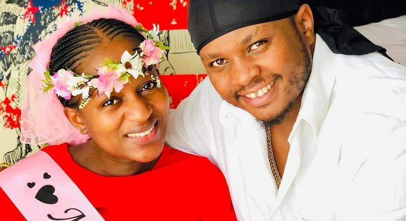 DK Kwenye Beat and his wife Shanice Wangechi