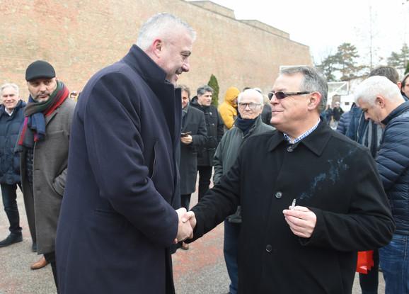 Predrag Danilović i Nebojša Čović, predsednici naših najvećih košarkaških klubova, Partizana i Crvene zvezde