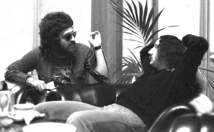Peca Popović i Mick Box 1977