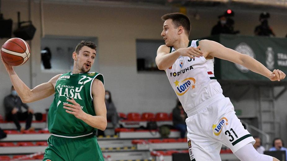 Ivan Ramljak (Śląsk) i Grzegorz Kamiński (Legia)