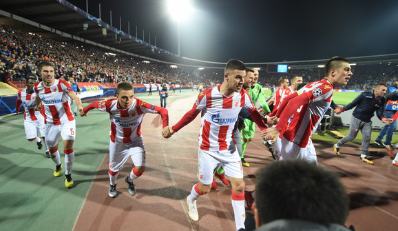 Fudbaleri Zvezde slave trijumf nad Liverpulom