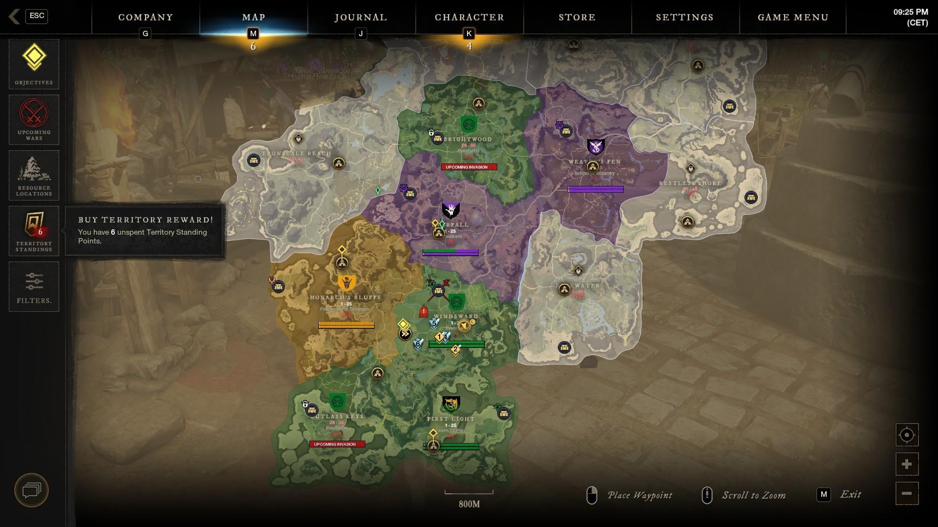 O nadvládu nad rôznymi časťami ostrova neustále bojujú tri konkurenčné frakcie.