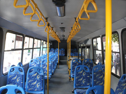 The inside of one of the high capacity vehicle in Nairobi. (the star)