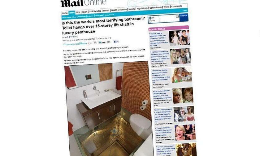 Oto najbardziej przerażająca toaleta na świecie! FOTO