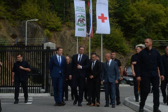 Aleksandar Vučić u Gazivodama