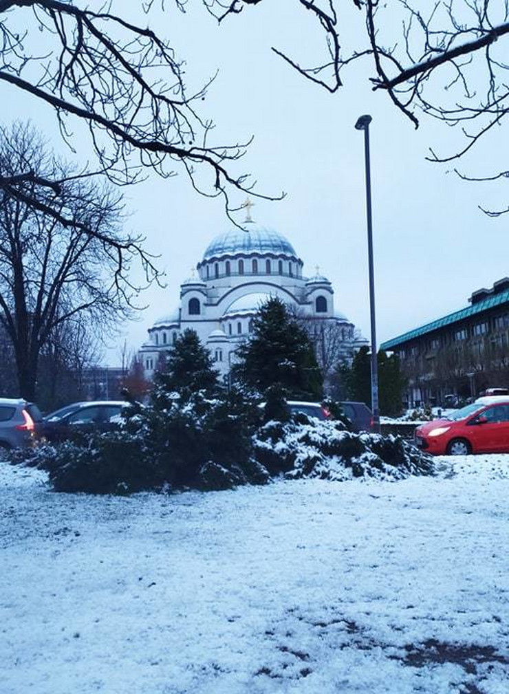 Prvi sneg u Beogradu 2020.