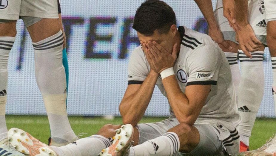 Bartosz Kapustka doznał kontuzji w meczu Legia - Flora