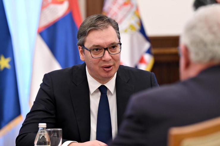 Aleksandar Vučić, ministar spoljnih poslova Palestine Rijad Al Maliki