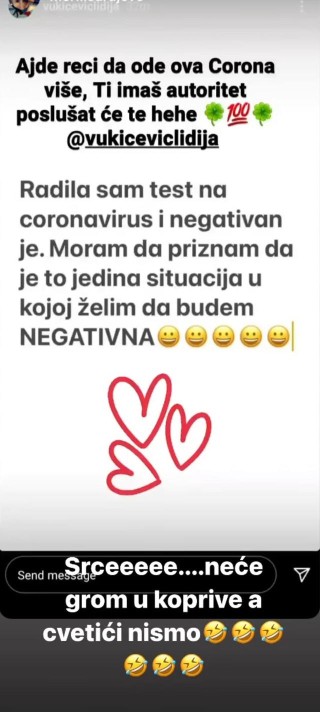 Lidija Vukićević objava
