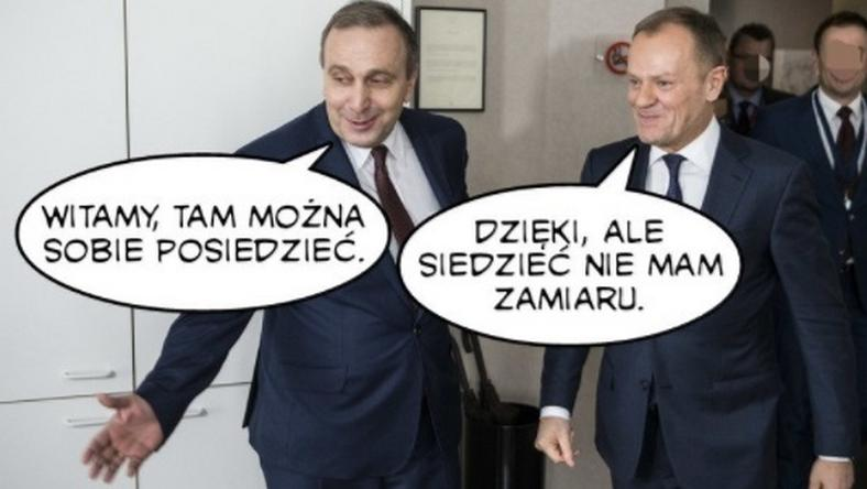 Przesłuchanie Donalda Tuska w prokuraturze. Memy zalewają sieć