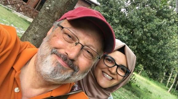 Džamal Kašogi i njegova verenica Hatis Čengiz