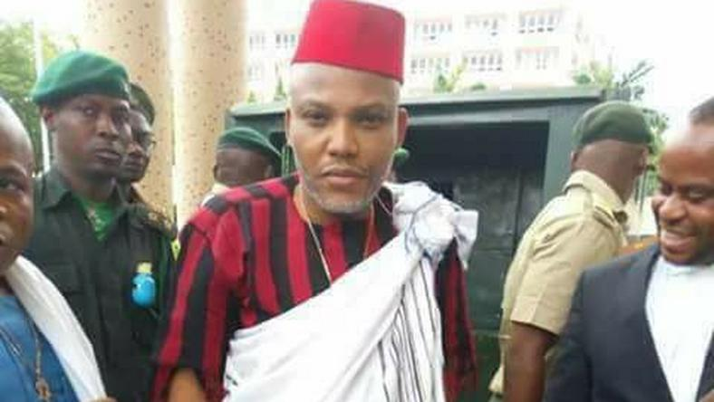 Nnamdi Kanu in Idoma attire