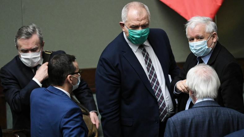 Jarosław Kaczyński, Ryszard Terlecki, Jacek Sasin, Piotr Gliński, Mateusz Morawiecki