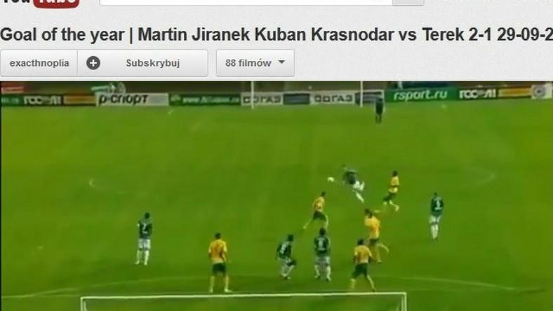 Martin Jarinek strzela gola dla Tereka