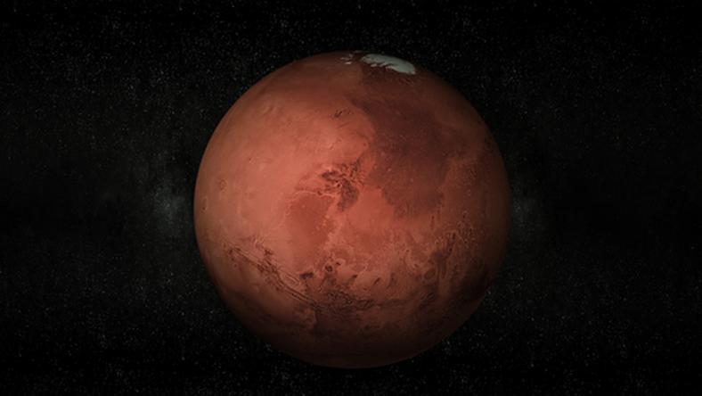 Grube warstwy lodu tuż pod powierzchnią Marsa
