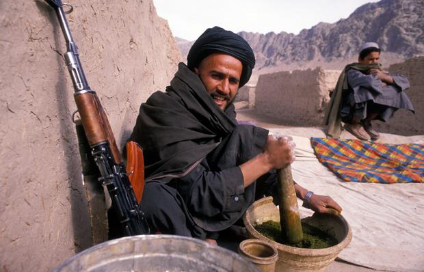 Jeden z mudżahedinów w Kandaharze, ostatni rok wojny z ZSRR
