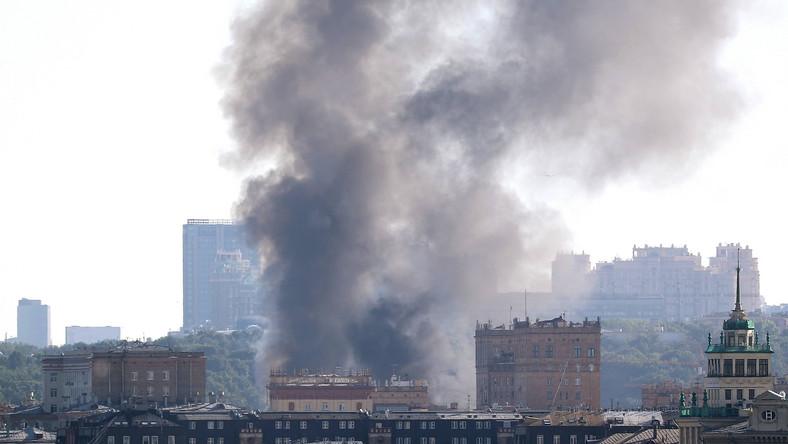 Pożar w Moskwie