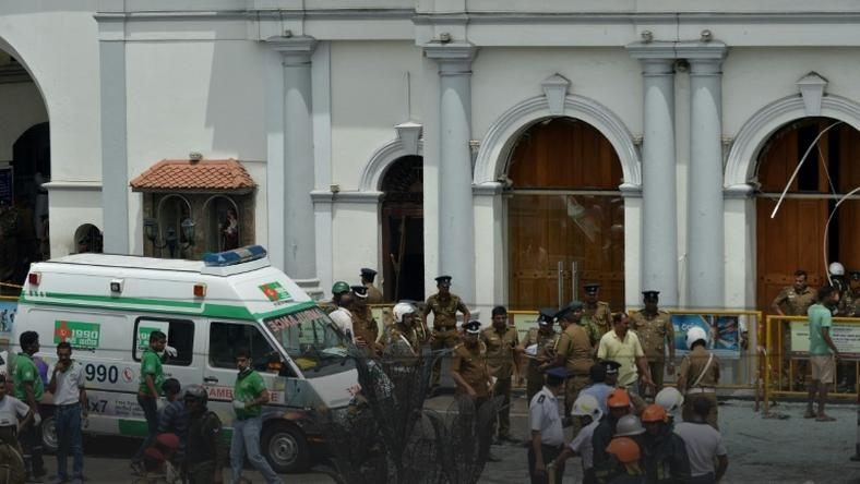 The first explosions were reported at St Anthony's Shrine (pictured) in Colombo and St Sebastian's Church in the town of Negombo just outside the capital