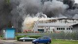 Wielki pożar w Katowicach. Miasto spowił dym