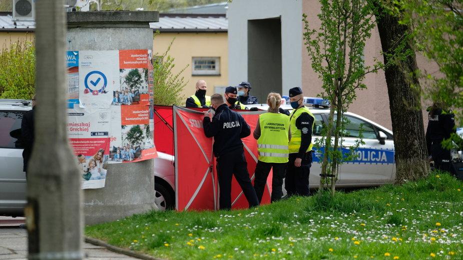 Miejsce śmiertelnego postrzelenia policjanta w Raciborzu