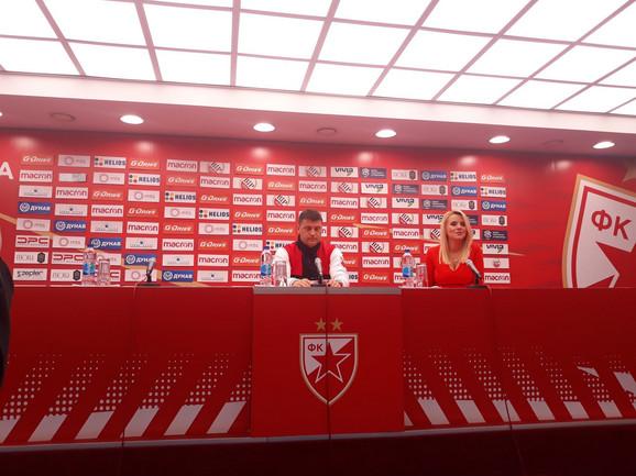 Vladan Milojević na konferenciji pred utakmicu sa Partizanom