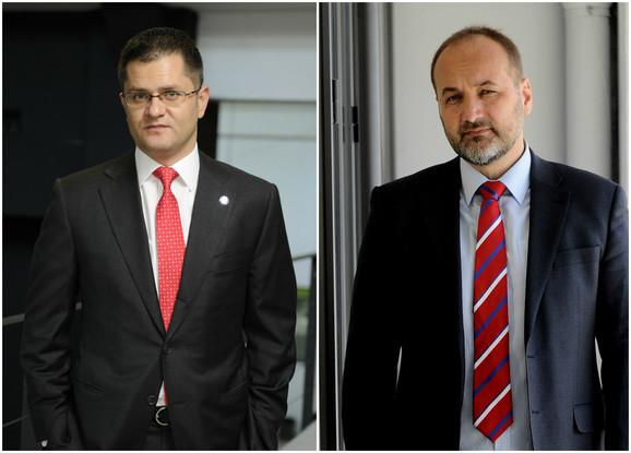 Sa zadrškom: Vuk Jeremic i Sasa Jankovic