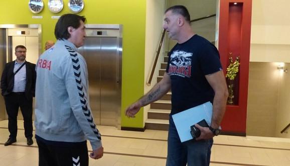 Nedeljko Jovanović i selektor Nenad Peruničić