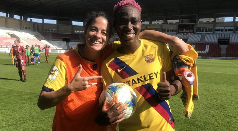Super Falcons star Asisat Oshoala nets a hattrick in Barcelona's women's side big league win