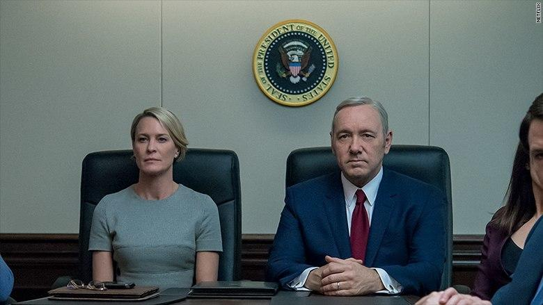 """Robin Wright and Kevin Spacey in """"House of Cards"""""""