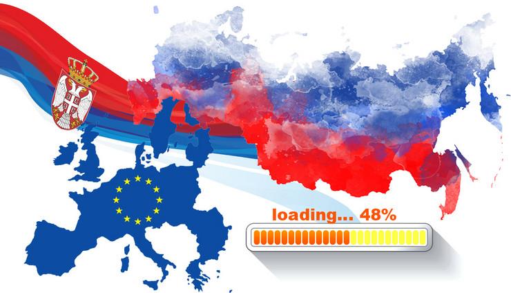 Srbija EU Rusija 48 procenata kombo