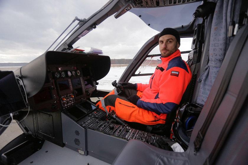 Michał Smaga (34 l.), pilot śmigłowca LPR