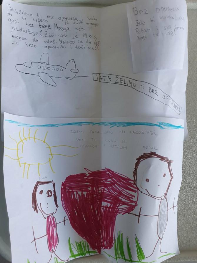 Crtež podrške sinova Petra i Luke