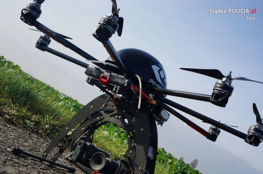 Do poszukiwań wykorzystano drona