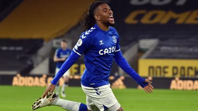 Alex Iwobi gets a goal for Everton to complement his marked improvement