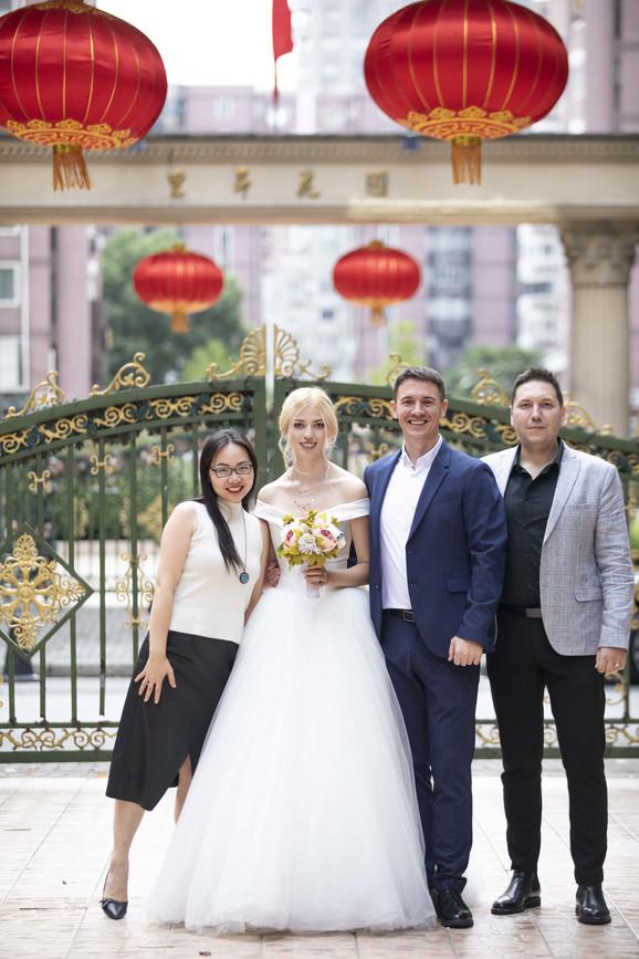 Mladenci u kineskom ambijentu