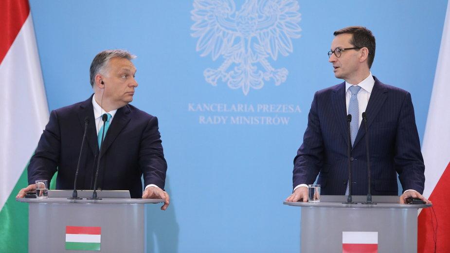 Viktor Orban i Mateusz Morawiecki