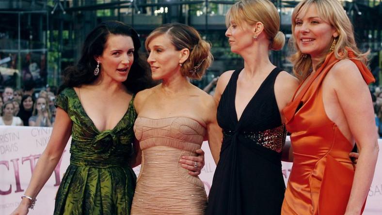 """Gwiazdy """"Seksu w wielkim mieście"""". Pierwsza z lewej - Kristin Davis"""