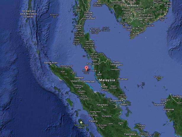 Cieśnina Malakka. Fot. Google Maps
