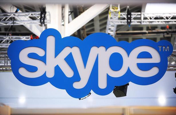 Logo Skype'a. Fot. Denis Doyle/Bloomberg