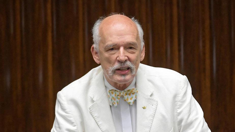 Janusz Korwin-Mikke w 2020 r.