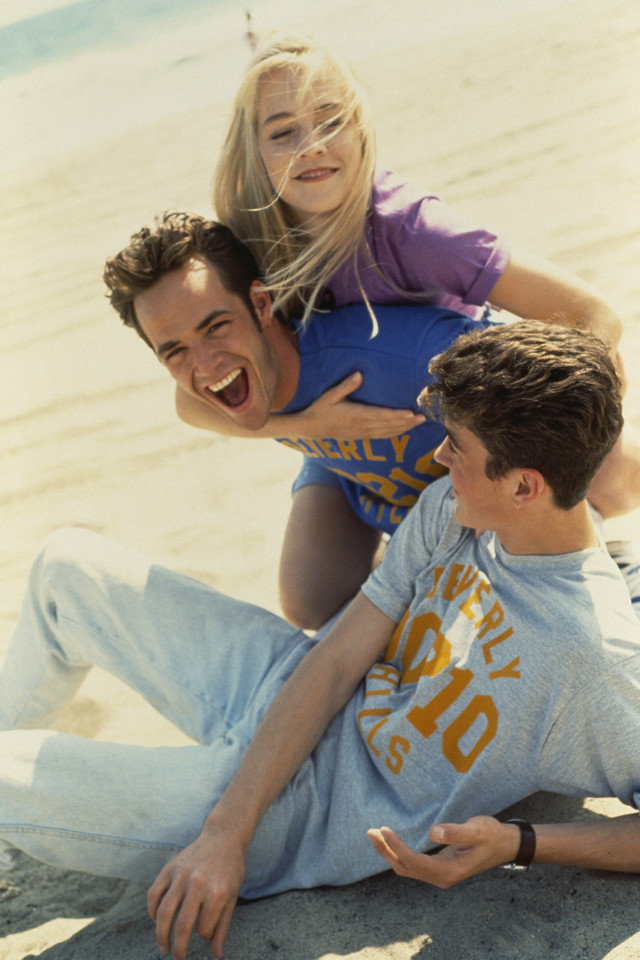 "Luke Perry w ""Beverly Hills, 90210"""
